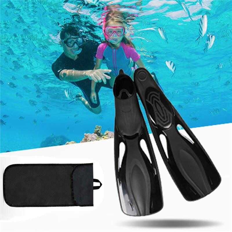 New Arrival Diving Fins with Storage Bag Long Fins Scuba Diving Fins Snorkel Swim Training Flipper Flexible US 6-10 Equipment<br>