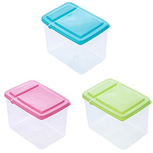 1PC  Kitchen Half Flip Cover Food Storage Box Airtight Plastic Containers Sealing Cans For Coarse Cereals And Grains