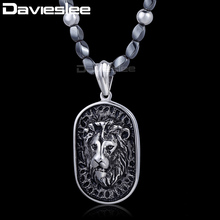 5mm X 68.4cm Iron Gallstone Link 316L Stainless Steel Lion Pendant Necklace Mens Boys Chain Fashion Jewelry DLHN84(China)