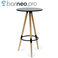 94926 Barneo T-11 MDF High Interior Dinner Table Bar Table Kitchen Furniture Dining Table Black free shipping in Russia