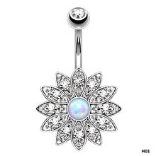 Holy Lotus Navel Piercing Belly Button Rings Industrial Piercing(China)