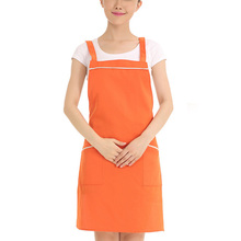 Restaurant Waiter Waitress Working Clothes Sleeveless Apron Kitchen Cooking Apron Men Women Chef Apron Pinafore