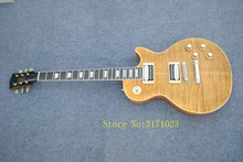 Hot Sale LP tiger guitar striped maple cover, Slash guitar signature on headstock high quality free shipping(China)