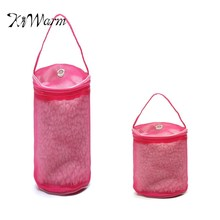 KiWarm Yarn Case Yarn Storage Baskets Knitting Yarn Round Nylon Bags On Traveling DIY Hand Weaving Tools For Crochet Thread