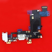 "30PCS high quality For Apple iphone 6s plus 5.5"" Audio Jack flex cable + Charger Dock Charging Port Flex Cable light gray+Tool"