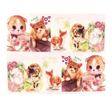 New Photo Color1sheets DIY Optional Nail Sticker Water Transfer Cartoon/Animal Tips Beauty Manicure Decals(China)