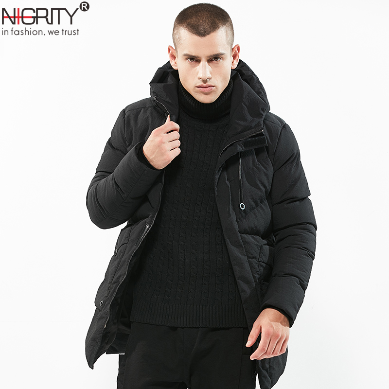 Men Winter Coat Men Parkas Jacket Stand Collar Male Jacket Solid Thick Jackets Coats