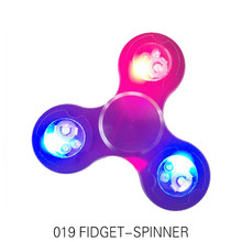 LED Lighting Hand Spinner For Autism And Relax Spin Metal Spinner Relief Focus Attention Anxiety Stress Birthday Gift Toys(China)