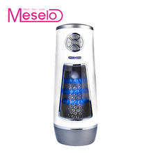 Meselo New Luxury Automatic Masturbator Male Hands-free Powerful High Speed Masturbation Cup Multiple Vibration Sex Toys For Men(China)