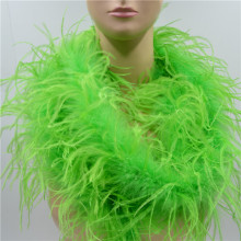 Length 2 Meters light green Ostrich Feather Boas Lady Scarf for Clothing Accessories Wedding Decorations Centerpieces Feathers(China)