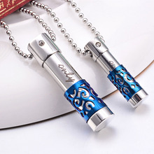 Men's Titanium Steel Perfume Bottle Shaped Pendant  Necklace Memorial Fashion Design Chain Cool Necklace Jewelry