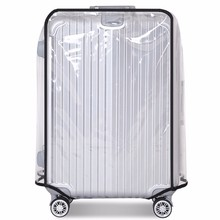 "Osmond Transparent PVC Waterproof Luggage Cover Trolley Suitcase Dust Luggage Protective Cover Travel Case Accessories 20"" 30""(China)"