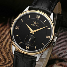 AILANG butterfly fly series automatic mechanical watch seagull movement ultra-thin shell waterproof pointer dial leather strap