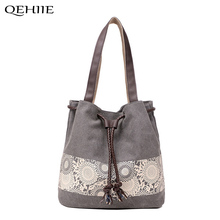 QEHIIE 2017 Luxury Handbags Women Bags Designer Korean Casual Large Capacity Canvas Bag Travel Shopping Essential Shoulder Bags