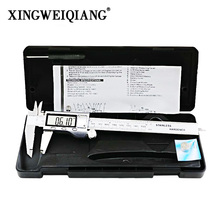 "LCD Digital Caliper 0-150mm 6 ""Stainless Steel Metal Casing Digital Caliper Vernier Caliper Electronic Caliper+Original Box(China)"