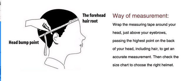 meansure your heads size_