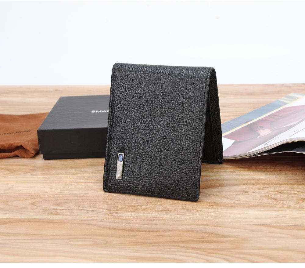 محفظة جلدية ذكية مضادة للضياع مع جهاز تتبع مربوط بالهاتف عبر البلوتوث 13