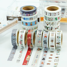 (5 pieces/lot) Christmas Washi Tape DIY Masking Tape Scrapbooking cinta de la decoracion