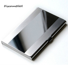 Naivety New Fashion Stainless Steel Silver Color Aluminium Business ID Credit Card Holder Cover Case(China)