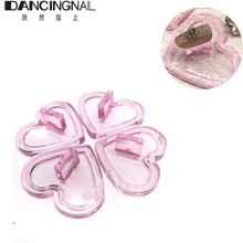 1Pcs Nail Tips Holder Art Mix Color Showing Display Stand Pink Heart Love Shaped UV Gel Polish Practice Training Manicure Tool(China)