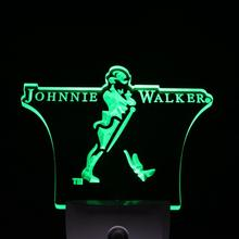 ws0031 Johnnie Walker Whiskey Wine Bar Day/ Night Sensor Led Night Light Sign