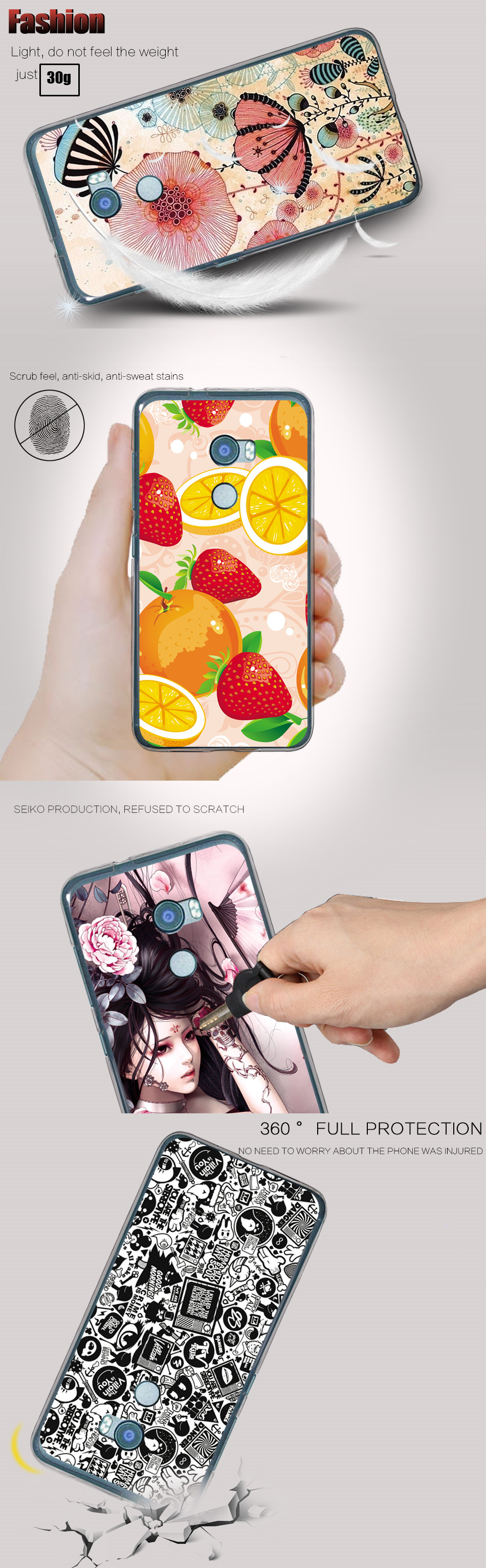 "Soft TPU For Coque HTC One X10 Case Cover Cute Cartoon UV Printing Phone Cases For HTC One X10 E66 Funda Capa For HTC X10 5.5"" 1"