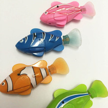 Electronic Fish Robofish Activated Battery Powered Robo Fish Toy Childen Robotic Pet Holiday Gift can Swims 5 colors(China)
