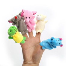 Cute Finger Puppet Cartoon Biological Animal Finger Puppet Plush Toys Child Baby Favor Dolls Boys 10 Colors(China)