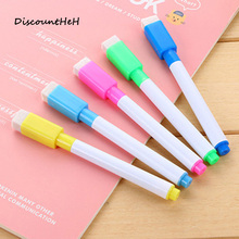 1PCS New Magnetic Whiteboard Pen Erasable Dry White Board Markers Magnet Built In Eraser Office School Supplies(China)