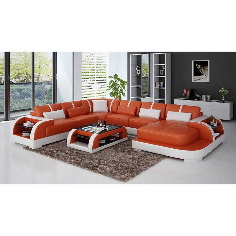 Living Room Sofas Black U-shape Living Room Furniture Sectional Sofa Set G8007 Fancy Colours Furniture