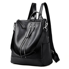 11.11 Promotions New Shoulder Women's Bag 2017 Backpacks Black Korean Style Package Fashion Travel Bags Backpack Online(China)