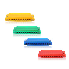 Swan 10 Holes 20 Tones Blues Multi-Colors Plastic C Key Harmonica Accordions Musical Instrument Woodwind Accessory Students Kids