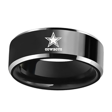 Dallas Cowboys Football Team Stainless Steel Finger Ring Men Jewelry Xmas Gift(China)