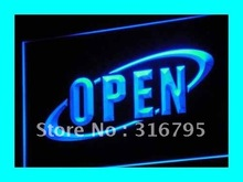 i038 OPEN NEW Cafe Restaurant Bar NR LED Neon Light Sign On/Off Switch 7 Colors 4 Sizes