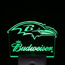 ws0156 Baltimore Ravens Budweiser Bar Day/ Night Sensor Led Night Light Sign(China)