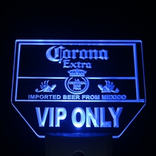 ws0191 Corona VIP Only Beer Bar Day/ Night Sensor Led Night Light Sign