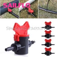 New 5Pcs/Set 4/7mm Coupling Pipe Irrigation Water Hose Switch Plastic Valve #G205M# Best Quality