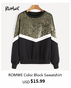 romwe-Color Block Sweatshirt
