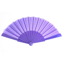 Uxcell Party Plastic Handle Asian Japanese Hand Held Folding Fan Dark Purple black | blue | green | pink | purple | red | teal |
