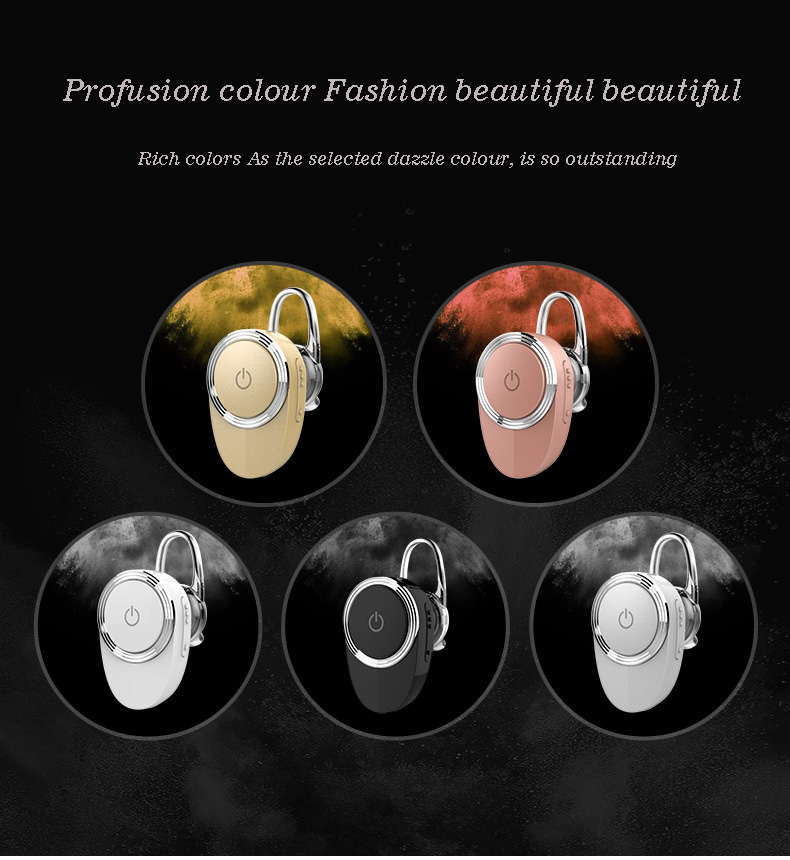 2017 new wireless headset, stereo Bluetooth headset, v4.1 headset and MIC (tuhao gold)