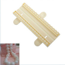1 Pcs 3D DIY Pearl Bead Chain Silicone Fondant Mould Cake Chocolate Decorating Baking Mold(China)
