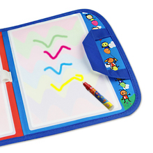Kids Multicolor Water Drawing Painting Writing Board Magic Doodle Mat Pen Toy