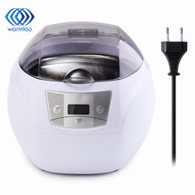 1Pcs Mini Ultrasonic Cleaner 750ml 35W 0-450s Timer Power Digital Ultrasonic Jewelry Glass Watch Disc Cleaner US/EU Plug