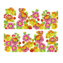 Nail Sticker Water Transfer Flower DIY Tips Beauty Manicure Decals Photo Color 1sheets(China)