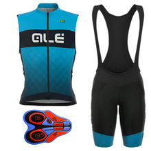 Polyester Pro Team Cycling Jersey Set Bike Cycling Clothing Ale Blue Cycle Bicycle Sport Wear Quckly Dry Ropa Ciclismo Mens