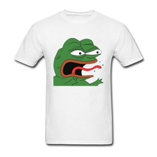 Original Pepe Frog Men T-Shirts Summer O-Neck Tees Shirts Man Short Sleeve 100%Cotton TShirt Of Adult Super Size Brand Clothing