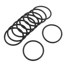 Uxcell 10 Pcs 3Mm Black Rubber O Shaped Rings Oil Seal Gasket Washer Id . | 40mm | 42mm | 44mm | 46mm | 47mm | 49mm | 52mm |(China)
