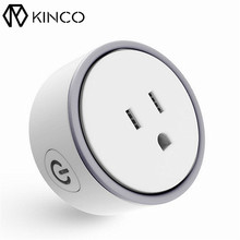 KINCO Smart Mini-us Plug US White Modern Designed Wireless 2.4Ghz WIFI Remote Control Voice Socket Mini Plugs for Mobile Phone(China)