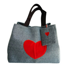 2017 Heart Printed Canvas Tote Shopping Bags Large Capacity Women Canvas Beach Bags Casual Tote Handbags Bolsa Feminina(China)