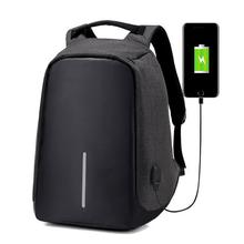 Multifunction USB charging Men Laptop Backpacks For Teenager Fashion Male Mochila Leisure Travel backpack(China)